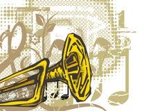 bakgrundsinstrumentmusik Royaltyfri Fotografi