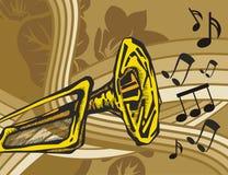 bakgrundsinstrumentmusik Arkivbild