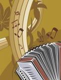 bakgrundsinstrumentmusik stock illustrationer