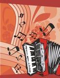 bakgrundsinstrumentmusik vektor illustrationer