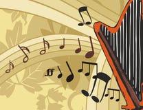 bakgrundsinstrumentmusik Arkivfoton