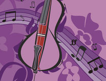 bakgrundsinstrumentmusik Arkivbilder