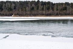 bakgrundsisflod Royaltyfria Bilder