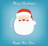bakgrundsjul claus santa fyll på underkanten kan jul som lyckliga glada nya egeer för textwishes för bild spanskt år dig som är d vektor illustrationer