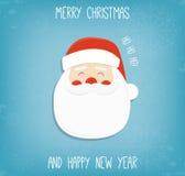 bakgrundsjul claus santa fyll på underkanten kan jul som lyckliga glada nya egeer för textwishes för bild spanskt år dig som är d royaltyfri illustrationer