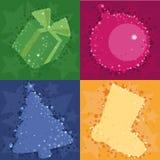 bakgrundsjul fyra royaltyfri illustrationer