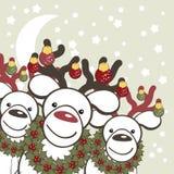 bakgrundsjulclaus deers roliga santa royaltyfri illustrationer