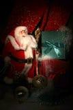 bakgrundsjulen inramninde ferieplats greeting lyckligt nytt år för 2007 kort Fotografering för Bildbyråer