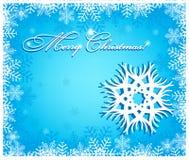 bakgrundsjulen isolerade vita snowflakes Royaltyfri Bild