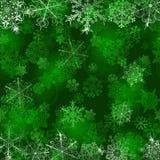 bakgrundsjulen isolerade vita snowflakes Royaltyfria Bilder