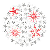 bakgrundsjulen stänger den isolerade snowflaken upp white Arkivfoton