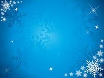 bakgrundsjulsnowflake Royaltyfria Bilder