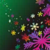 bakgrundsjulsnowflakes Royaltyfri Fotografi