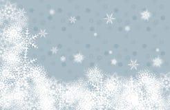 bakgrundsjulsnowflakes Arkivfoto