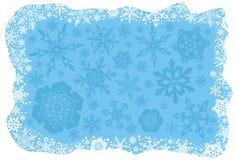 bakgrundsjulsnowflakes Arkivbilder