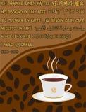 bakgrundskaffe Royaltyfria Bilder