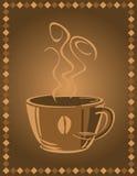 bakgrundskaffekopp stock illustrationer