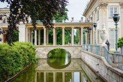 bakgrundskanalen cracked flottörhus grönt mudväxtvatten Royaltyfria Bilder