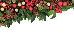 bakgrundskanten boxes vita guld- isolerade band för julgåvan Fotografering för Bildbyråer