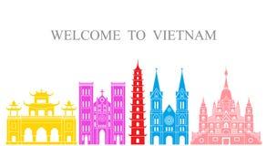bakgrundskantlandet detailed vietnam för form för regionen för flaggor symboler isolerad set white Isolerad Vietnam arkitektur på Royaltyfria Foton