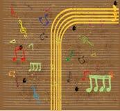 bakgrundsklavmusik bemärker treble vektor illustrationer
