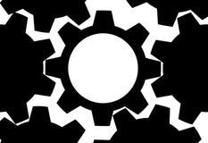 bakgrundskopieringskugghjulet gears avståndsteknologi Arkivfoton