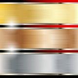 bakgrundskopparguldstål stock illustrationer