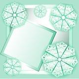 Bakgrundskortet med blom- snör åt snidit vektor illustrationer