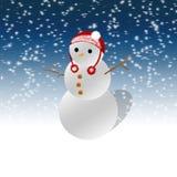 bakgrundskortjulen man nytt s-snow?r stock illustrationer