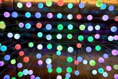 bakgrundslampor Arkivfoto