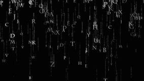 Bakgrundsmatriserna av bokstäver Matris av det engelska alfabetet stock illustrationer