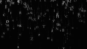 Bakgrundsmatriserna av bokstäver Matris av det engelska alfabetet vektor illustrationer
