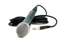 bakgrundsmikrofonwhite Royaltyfria Bilder