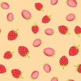 Bakgrundsmodell av den sunda jordgubben för sommar Fotografering för Bildbyråer