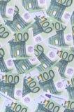Bakgrundsmodell av en uppsättning av gröna monetära valörer av 1 Arkivfoton