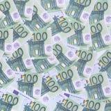 Bakgrundsmodell av en uppsättning av gröna monetära valörer av 1 Arkivbild