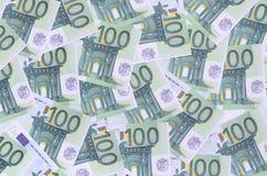 Bakgrundsmodell av en uppsättning av gröna monetära valörer av 1 Fotografering för Bildbyråer