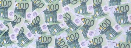 Bakgrundsmodell av en uppsättning av gröna monetära valörer av 1 Royaltyfria Foton