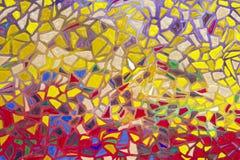 Bakgrundsmodell för mosaiska tegelplattor Royaltyfria Foton