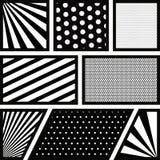 Bakgrundsmonokromabstrakt begrepp i popkonst fodrar och pruckit vektor illustrationer