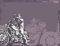 bakgrundsmotorcykel fotografering för bildbyråer