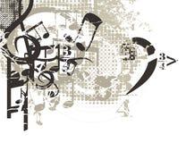 bakgrundsmusikal vektor illustrationer