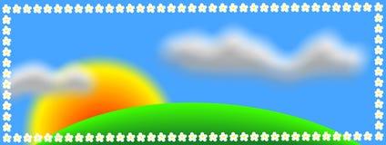 bakgrundsnatur stock illustrationer