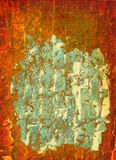 bakgrundsorangemålarfärg Arkivfoton