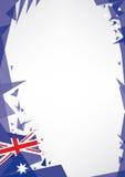 Bakgrundsorigami av Australien Royaltyfri Bild