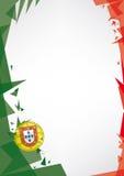 Bakgrundsorigami av Portugal Royaltyfri Fotografi