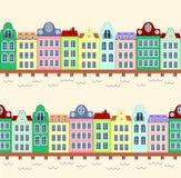 bakgrundsormbunksbladet houses seamless vatten Arkivbilder
