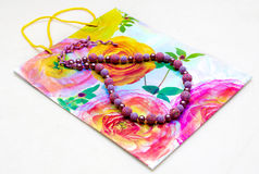 bakgrundspåsen beads papper Royaltyfria Foton