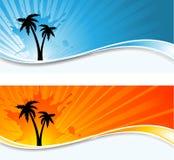 bakgrundspalmträd vektor illustrationer