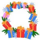 Bakgrundsram för jul och för nytt år Stock Illustrationer